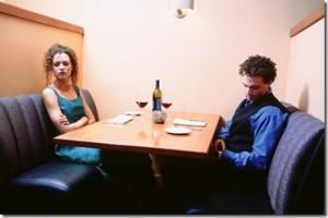 Onromantisch uit eten of juist niet?