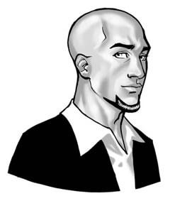 Neil Strauss getekend portret