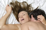 Vrouw met orgasme