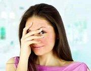 Woman Blushing