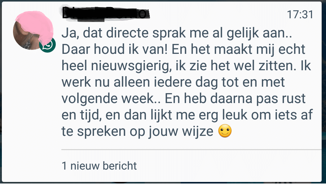 afspreken whatsapp
