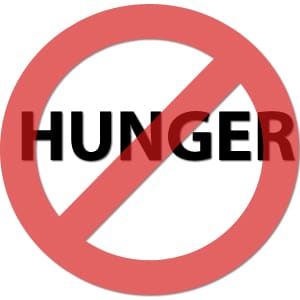 geen honger