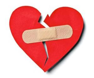 liefdesverdriet hart pleister
