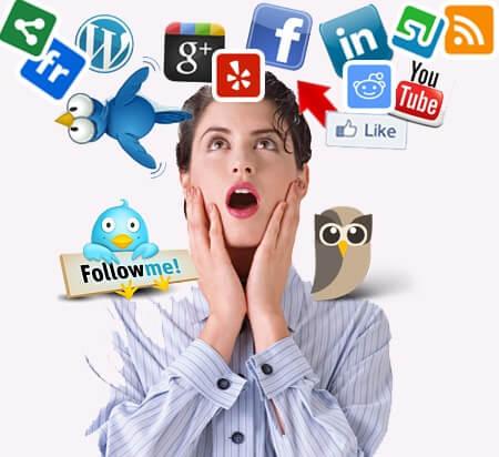 social media vrouw